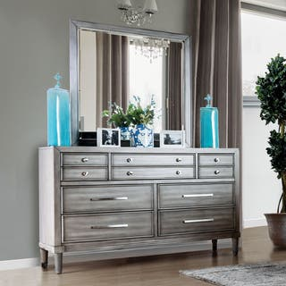 Furniture of America Kerilan Transitional 2-piece Grey 7-drawer Dresser and Mirror Set|https://ak1.ostkcdn.com/images/products/15926247/P22328158.jpg?impolicy=medium