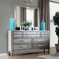 Kerilan Transitional Grey 2-piece Dresser and Mirror Set by FOA