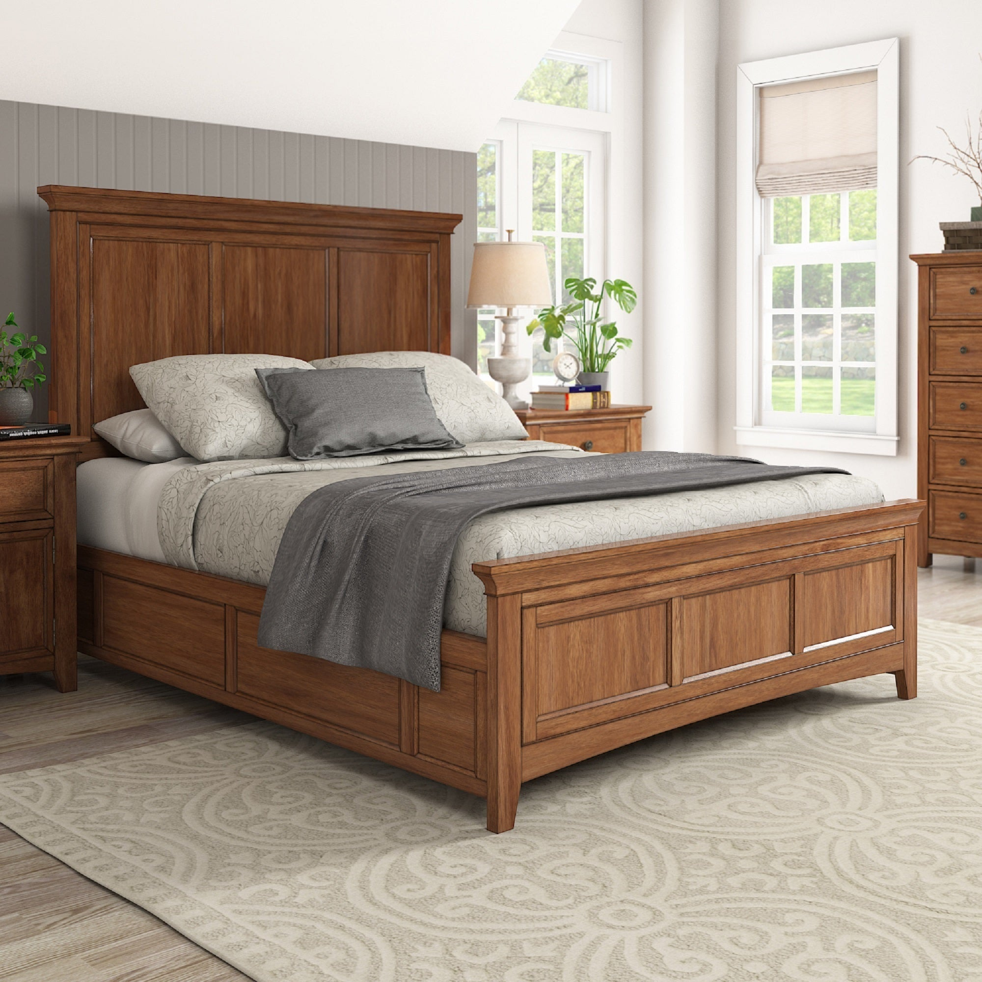 Ediline-Queen-Size-Wood-Panel-Bed-by-iNSPIRE-