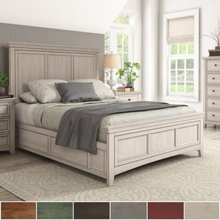 Ediline Queen Size Wood Panel Bed by iNSPIRE Q Classic