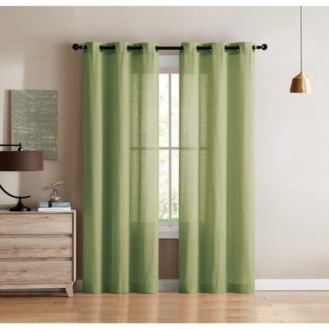 VCNY Home Jeanette Solid Curtain Panel Pair
