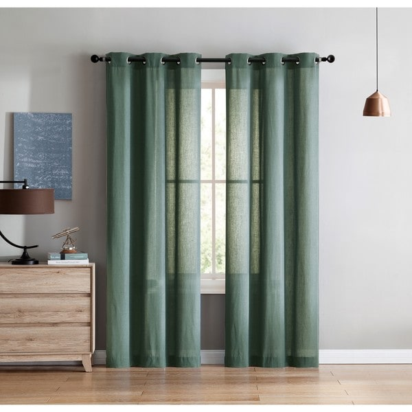 a6a8923e98ed Shop VCNY Home Jeanette Solid Curtain Panel Pair - On Sale - Free ...