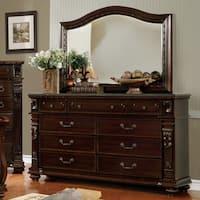 Furniture of America Tayler Traditional 2-piece Dark Cherry Dresser and Mirror Set