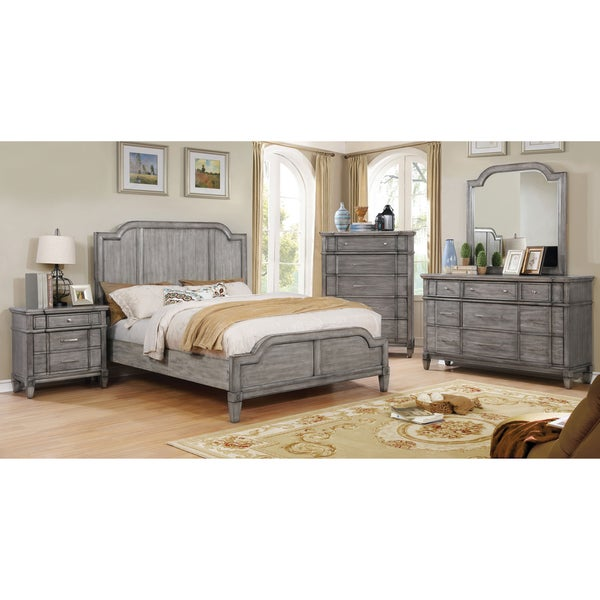transitional furniture furniture of america dresdelle transitional 5 drawer grey chest