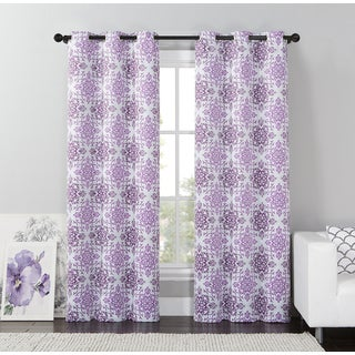 VCNY Home Rye Mosaic Blackout Curtain Panel