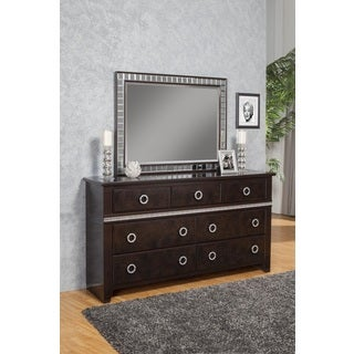 Sandberg Furniture Sunset Boulevard 7-Drawer Dresser and Mirror