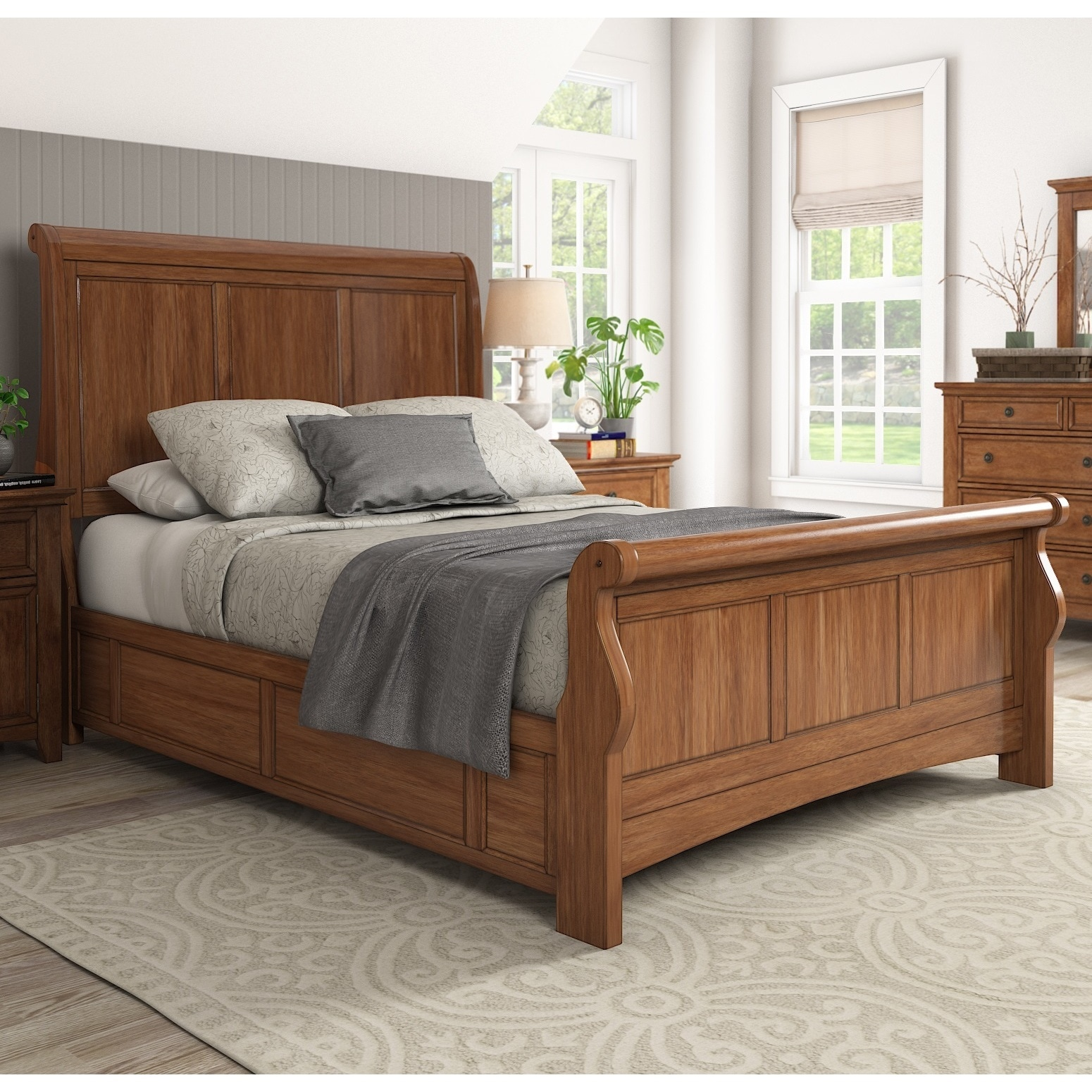 Ediline-Queen-Size-Wood-Sleigh-Bed-by-iNSPIRE-