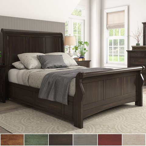 Copper Grove Virrat Wood Sleigh Bed