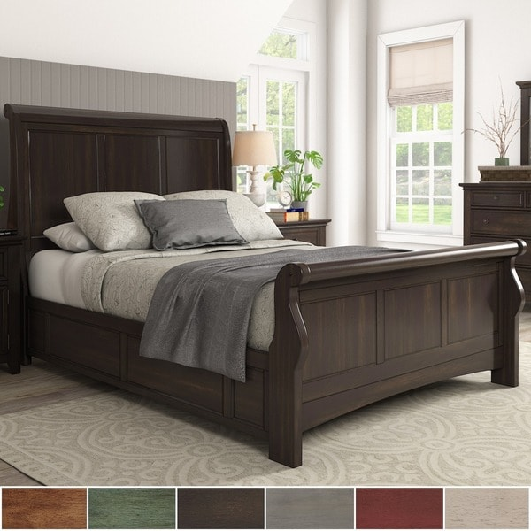Copper Grove Virrat Wood Sleigh Bed. Opens flyout.