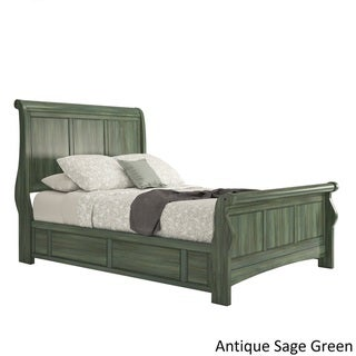 Ediline Wood Sleigh Bed by iNSPIRE Q Classic