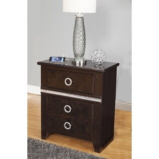 Sandberg Furniture Sunset Boulevard Brown 2-drawer Nightstand with USB