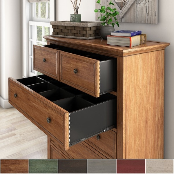 Copper Grove Ylojarvi 5-drawer Wood Modular Storage Chest