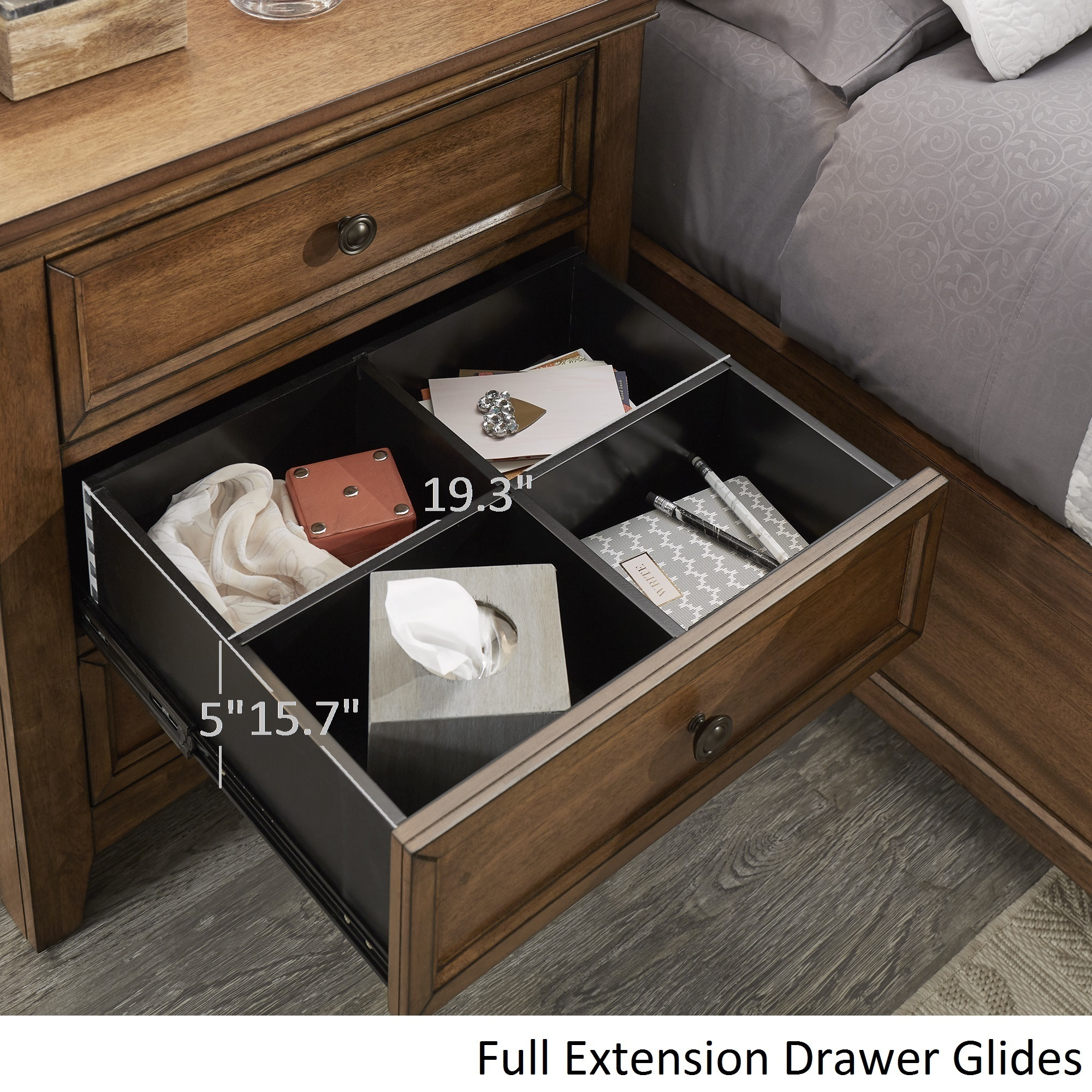 Copper Grove Virrat 3 Drawer Wood Modular Storage Nightstand With Charging Station