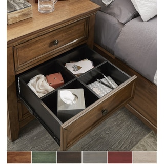 Copper Grove Virrat 3-drawer Wood Modular Storage Nightstand with Charging Station