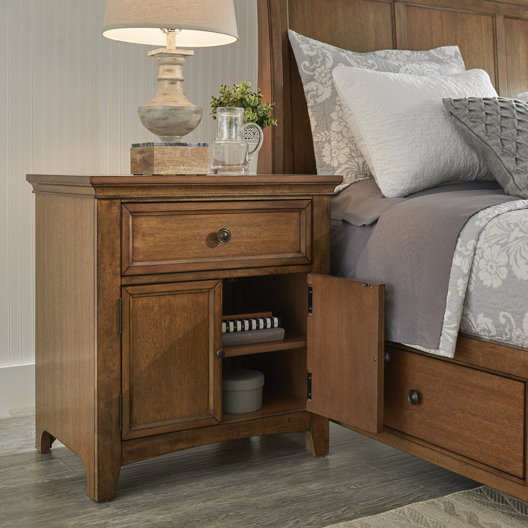 Ediline-1-drawer-Wood-Cupboard-Nightstand-with-Charging-