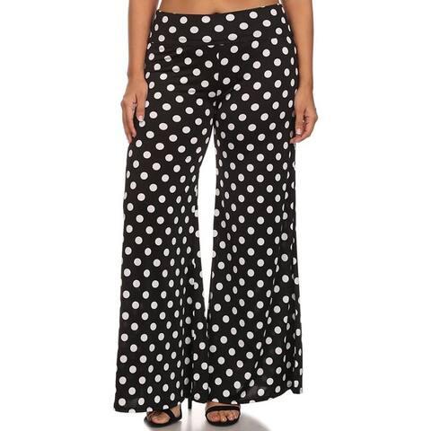 Women's Plus Size Polka Dotted Pattern Palazzo Pants