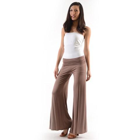 Women's Solid Tan Color Palazzo Pants