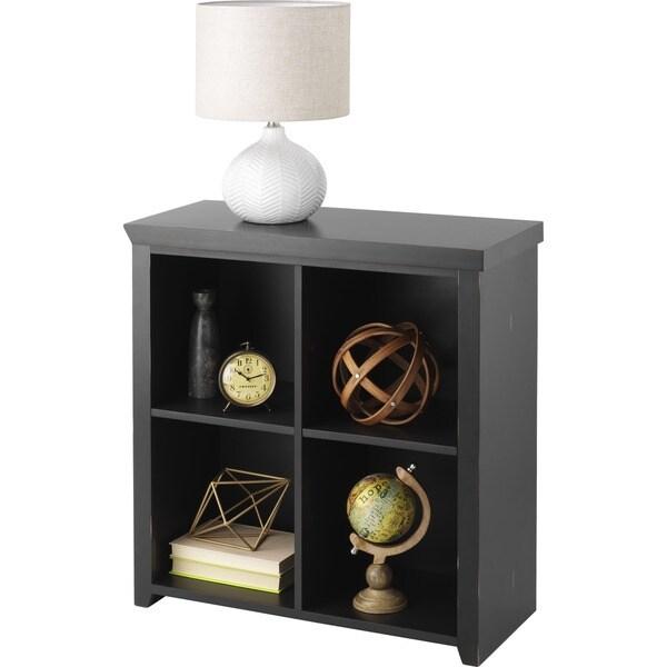 Whitmor 4 Cube Storage Organizer Distressed Walnut
