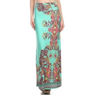 Women's Paisley Border Pattern Maxi Skirt