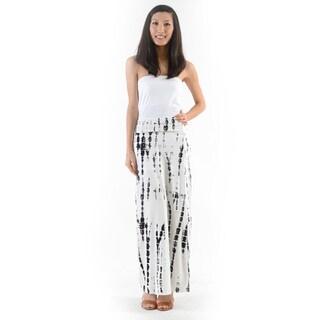 Women's White Tie Dye Pattern Maxi Skirt