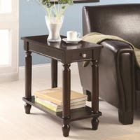 Raleigh Cappuccino Chairside End Table