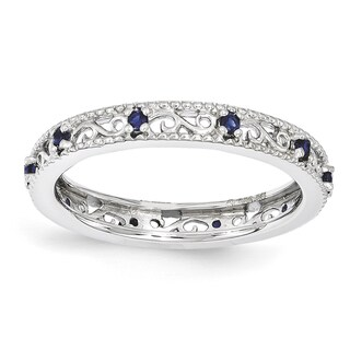 Sterling Silver Affordable Expressions Created Sapphire Ring