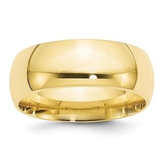 10 Karat Yellow Gold 8mm Comfort-Fit Band