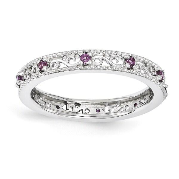 262bb6ba3f31f Shop Sterling Silver Affordable Expressions Rhodolite Garnet Ring ...