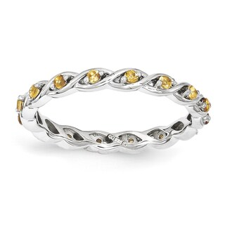 Sterling Silver Affordable Expressions Citrine Ring