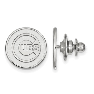 Sterling Silver MLB LogoArt Chicago Cubs Lapel Pin