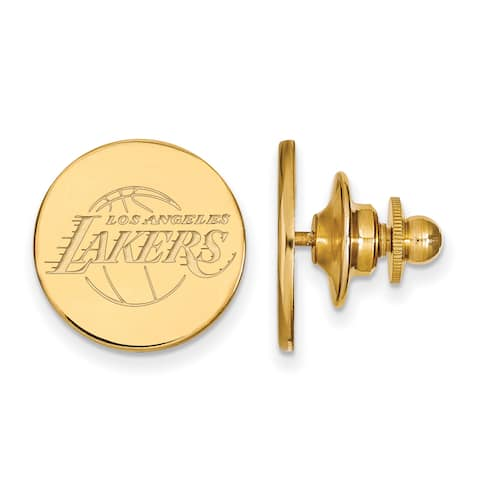 Versil Sterling Silver With GP NBA LogoArt Los Angeles Lakers Lapel Pin