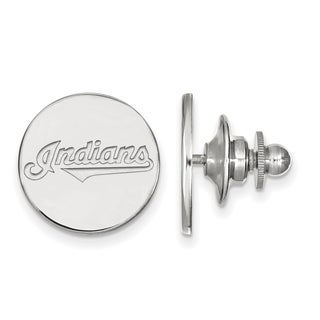 Sterling Silver MLB LogoArt Cleveland Indians Lapel Pin