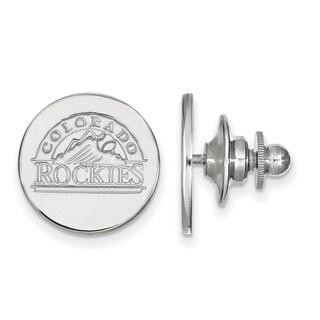 Sterling Silver MLB LogoArt Colorado Rockies Lapel Pin