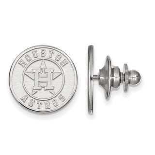 Sterling Silver MLB LogoArt Houston Astros Lapel Pin