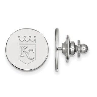 Sterling Silver MLB LogoArt Kansas City Royals Lapel Pin
