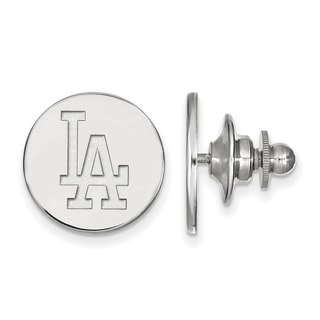 Sterling Silver MLB LogoArt Los Angeles Dodgers Lapel Pin