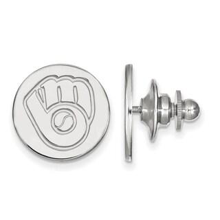 Sterling Silver MLB LogoArt Milwaukee Brewers Lapel Pin