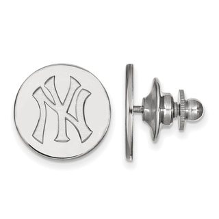 Sterling Silver MLB LogoArt New York Yankees Lapel Pin