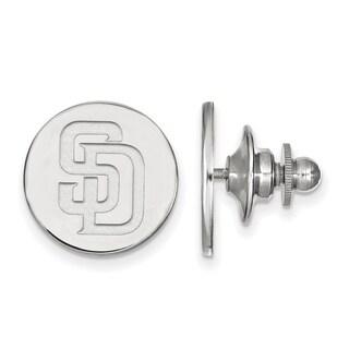Sterling Silver MLB LogoArt San Diego Padres Lapel Pin