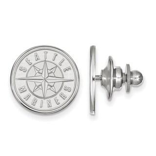 Sterling Silver MLB LogoArt Seattle Mariners Lapel Pin