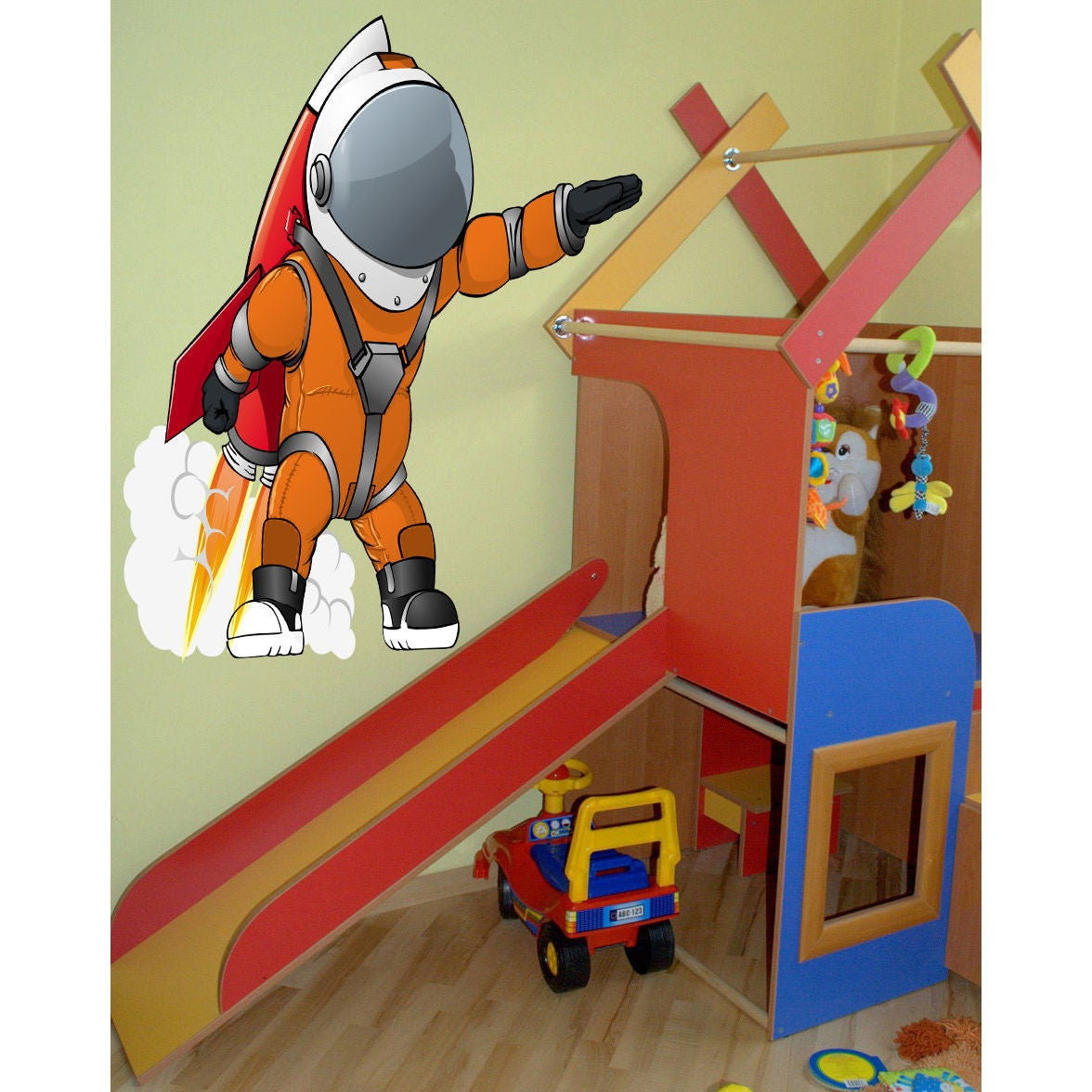 Fireman vinyl wall sticker decal bedroom nursery deco emergency hero removable