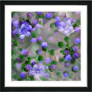 Studio Works Modern Framed Fine Art Floral Still Life Painting 'Pastel Popcorn Floral' Wall Art Giclee Print by Zhee Singer