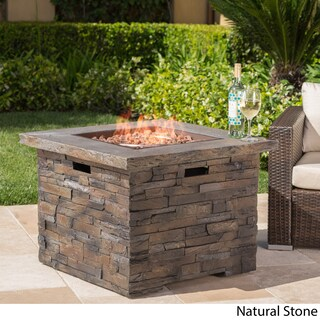 Blaeberry Outdoor Propane Fire Pit with Lava Rocks by Christopher Knight Home