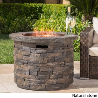 Blaeberry Outdoor Propane Fire Pit with Lava Rocks by Christopher Knight Home (2 options available)