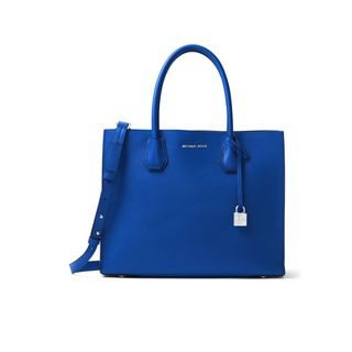 Michael Kors Studio Mercer Large Electric Blue Leather Convertible Tote Bag