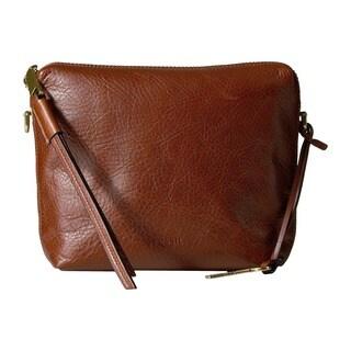 Fossil Maya Brown Leather Crossbody Handbag
