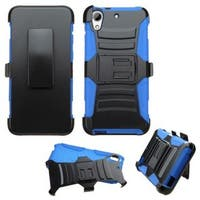 Insten Hard PC/ Silicone Dual Layer Hybrid Case Cover with Holster For HTC Desire 626/ 626s