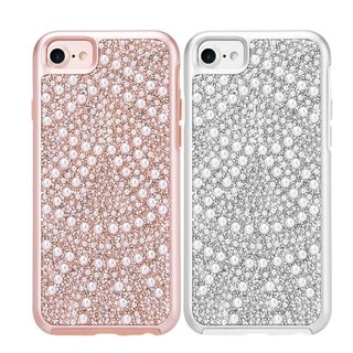 Apple Iphone 7 Diamond Pearl Platinum Collection Hybrid Bumper Case