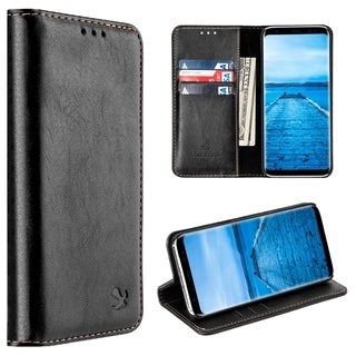 Samsung Galaxy S8 Plus Luxury Gentleman Magnetic Flip Leather Wallet