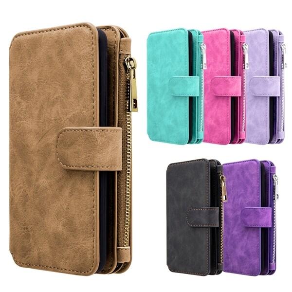 a3dfffdc7a68 Shop Samsung Galaxy S8 Luxury Coach Series Flip Wallet Case - Free ...
